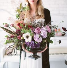 Romantic Southwestern Boho Wedding Inspiration - Great movement in this gothic urn, without costing $$$$