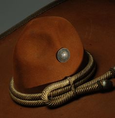 """Large Antique Mexican Felt Sombrero with Silver Conchos, ca. 1920 