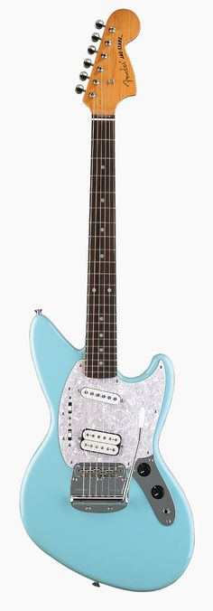 Fender Jag-Stang designed by the late Kurt Cobain. It's a combination of a Fender Jaguar and Fender Mustang.
