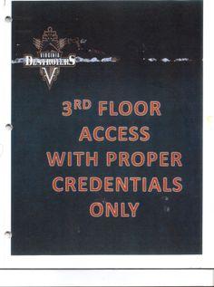 Virginia Beach Sportsplex Third Floor Access Placard, 2011-12 UFL season(s).