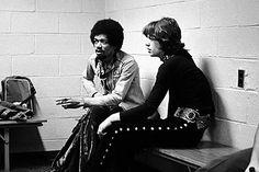 Jimi Hendrix und Mick Jagger, New York, 1969