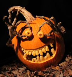 It feels like - every year - people continue to up their pumpkin carving game. If you're looking for some inspiration for your pumpkin carving this year, here are our picks for some of the most creative pumpkin carving ideas. Halloween Tags, Holidays Halloween, Vintage Halloween, Halloween Pumpkins, Halloween Crafts, Halloween Party, Halloween Stuff, Scary Halloween, Halloween Decorations
