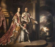 """""""The Earl and Countess of Mexborough with Their Son, Lord Pollington."""" Artist: Joshua Reynolds. c.1763."""