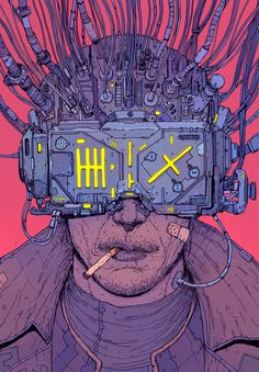 The cover I was comissioned to do for the brazilian re-edition of Neuromancer by Aleph Editora