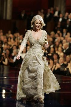 Helen Mirren wearing Christian Lacroix at the 2007 Oscars Chris Carlson/AP