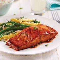 Filet de saumon, sauce barbecue au vinaigre balsamique - Recettes - Cuisine et nutrition - Pratico Pratique