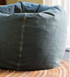 Shop denim twill beanbag from Pottery Barn. Our furniture, home decor and accessories collections feature denim twill beanbag in quality materials and classic styles. Teen Bedding, Teen Bedroom, Faux Fur Bean Bag, Large Floor Cushions, Large Bean Bags, Room London, Kids Seating, Pottery Barn Teen, Furniture Decor