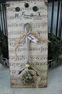 easy idea ~ bird nest  I made one similar to this!!!  So cute