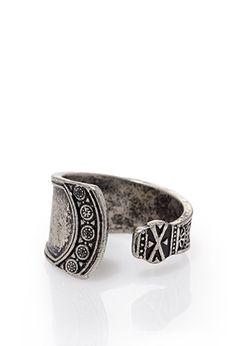 Engraved Open Ring | 21 MEN - 1000096767
