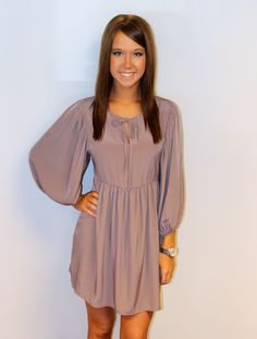 Light purple fall dress.  With cowgirl boots! I want!