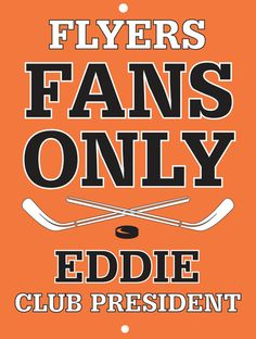 Flyers Custom Personalized Bar Sign  by thepersonalizedstore #ManCave #FathersDay #Groomsmen