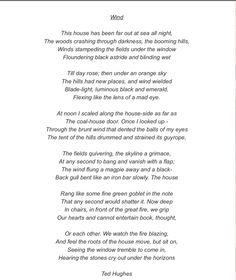 an poem analysis of hearing that How to read a poem - reading poetry  drawing you into a conversation with the poem  hearing creeley read his poems can often be disquieting,.