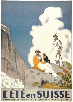 L'Ete En Suisse. Emil Cardinaux. Posters, Poster, cheap poster, buy posters, movie posters, sports posters