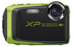 Fujifilm FinePix Green Waterproof digital camera (Black/Green) BSI-CMOS Sensor Waterproof to freeze proof to 14 Degree, shockproof to and dustproof Fujinon Optical Zoom Wi-Fi sharing and remote shooting Interval Shooting Mode + Time Lapse Movie Best Underwater Camera, Underwater Camera Housing, Underwater Photos, Digital Camera Prices, Sony Digital Camera, Best Waterproof Camera, Cameras Nikon, Images Gif, Walmart