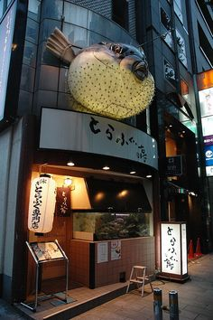 Tokyo Fugu (Pufferfish) Restaurant by tiptoe, via Flickr