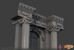 Calen Brait worked on BioShock Infinite for five years as lead modeler. Amongst his other roles, he got to engage in some digital architecture and exterior design. Game Environment, Environment Concept Art, Bioshock Series, Building Concept, Bioshock Infinite, Main Door, 3d Background, Environmental Art, Zbrush