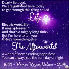 """Prince: Life and the Afterworld. 1958 - 2016. """"Let's go crazy! Let's get nuts!"""" ~ quote, lyrics"""