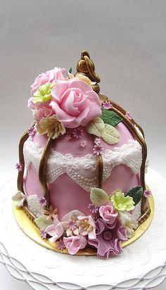 My First 'birdcage' cake | Flickr - Photo Sharing!