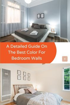 There is no right or wrong when it comes to choosing your favorite color for the master bedroom walls. If it feels right, it is right for you. Here's our list of top 11 bedroom wall colors for you to check out! Cute Home Decor, Unique Home Decor, Cheap Home Decor, Small Room Bedroom, Modern Bedroom, Master Bedroom, Bedroom Ideas, Blue Bed Covers, Best Bedroom Colors