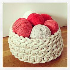 Lady Crochet: Cestos de crochet con cuerda