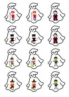 Planche n°1 - Mémory déguisements d'Halloween