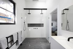 Master Bedroom Bathroom, Bathroom Renos, Laundry In Bathroom, Living Room Bedroom, Bathroom Interior, Modern Bathroom, Bathrooms, Bathroom Ideas, Bathroom Stuff