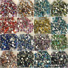 1bag color AB Flatback crystal Rhinestone gem Non Hotfix Nail Art Decoration  DIY d5d323a7d3f2