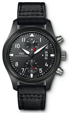 Amazon.com: IWC Pilot Top Gun Edition Black Dial Automatic Mens Watch IW388001: IWC: Watches