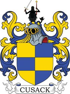 Cusack Family Crest and Coat of Arms