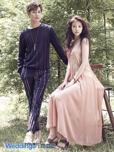 A Pink's Naeun & SHINee's Taemin // InStyle Weddings Korea
