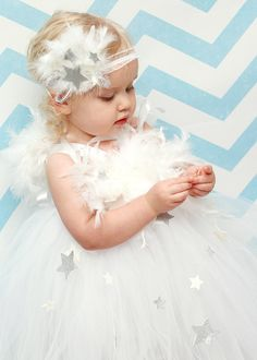 Angel Wings Angel Tutu White Tutu Dress by willowlaneboutiques, $60.00