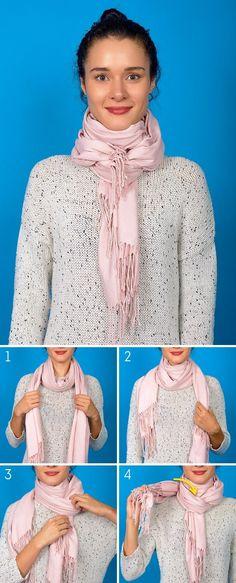 8 formas de completar o seu look com um lenço ou uma pashmina