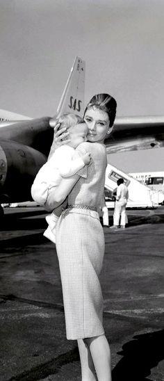 Audrey Hepburn and her son Sean, c. 1961.