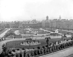 Patrick's Park shortly after completion in Blocks A & B of the Bull Alley Estate visible to the right of the picture. Old Pictures, Old Photos, Dublin City, Dublin Ireland, St Patrick, Paris Skyline, Past, Travel, Unique