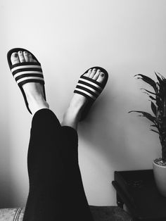 Summer uniform #adidas #slides