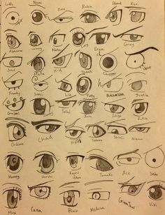 Wow they actually took the time to draw all of those different eyes of anime characters, and they're not even from the same animes! 0.0