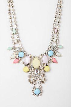 UO Kissimmee Rhinestone Bib Necklace