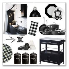 """K is for Kitchen"" by mmmartha on Polyvore featuring interior, interiors, interior design, home, home decor, interior decorating, Jonathan Adler, Wedgwood, Linon and Crate and Barrel"