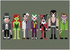Batman's Enemies  Penguin, Poison Ivy, Two-Face, Joker, Harley Quinn, Bane, Riddler