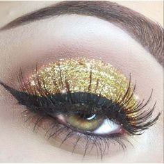 Lemonade Gold Dust Glitter Eyes ❤ liked on Polyvore featuring beauty products, makeup and eye makeup
