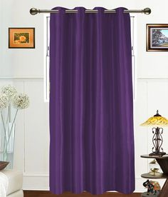 Dekor World Purple Plain Polyester Window Curtain, http://www.snapdeal.com/product/dekor-world-purple-plain-polyester/1055379613
