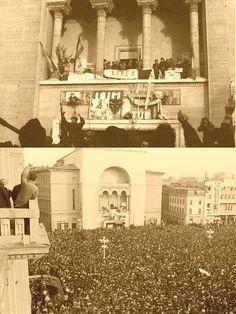 Manifestațiile din Piața Operei din Timișoara între 16 - 20 decembrie 1989, considerate scânteia revoltei populare care a dus la căderea comunismului în România Painting, Art, Art Background, Painting Art, Kunst, Paintings, Performing Arts, Painted Canvas, Drawings