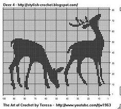 Filet Crochet Deer - Chart 4