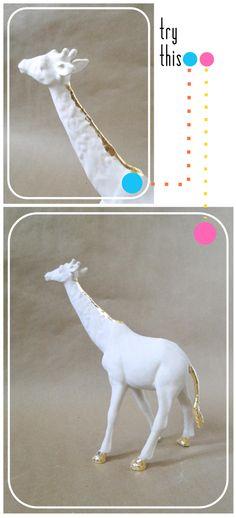 Gilded Ceramic Animals