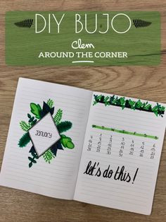 monhtly cover page de bullet journal urban jungle inspired vegetal drawing video cuadernos DIY bujo - Vegetal inspired monthly cover - Jannuary Bullet Journal 2019, My Journal, Bullet Journal Inspiration, Journal Pages, Bellet Journal, Cover Pages, Filofax, Writing, Blog Deco