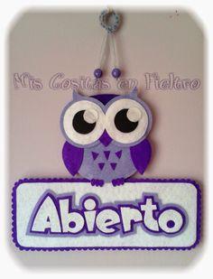 Cute Crafts, Felt Crafts, Diy And Crafts, Felt Name, Felt Wreath, Felt Owls, Name Banners, Felt Diy, Childrens Party