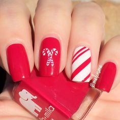 Candy Cane Nails Nail Art Pinterest Candy Cane Nails Winter