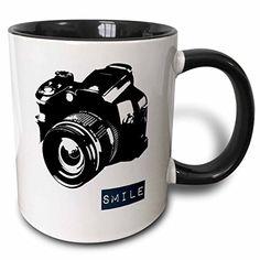 Turn on the Brights Rowena Smile Camera Photographer Art Coffee Mug Color: Black Coffee Barista, Coffee Mug Sets, Mugs Set, Coffee Shop, Cappuccino Cups, Espresso Cups Set, Cheap Coffee Maker, Brewing Equipment, Custom Printed Mugs