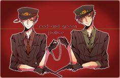 Hetalia-Police!Romano and Spain