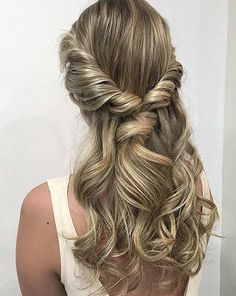 Curly, Twisted Half Updo